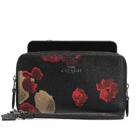 【当当自营】蔻驰(COACH)新款时尚女士花卉图案钱包零钱包女钱包 F55676