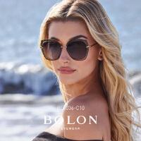 BOLON暴龙2018新款明星同款女太阳镜圆形金属框墨镜眼镜BL8036