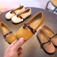新款女童鞋子公主鞋百搭中大童小皮鞋儿童休闲单鞋