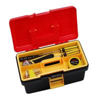 红兔子 双层工具箱 多用收纳箱 多功能塑铁 工具箱 红色