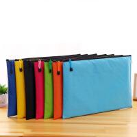 包邮 A3文件袋看加大号防水资料袋8k画袋图纸袋 彩色拉链袋美术袋