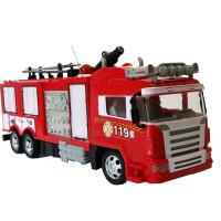 会喷水的消防车 儿童遥控消防车会喷水仿真充电大号电动洒水车男孩警车救火车玩具 遥控一键喷水消防车