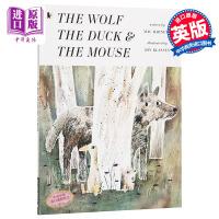 【中商原版】野狼的肚子我的家 英文原版 The Wolf, the Duck and the Mouse 幽默趣味故事