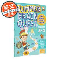 Summer Brain Quest: Between Grades 3 & 4 英文原版 美国小学生全科练习 暑假练