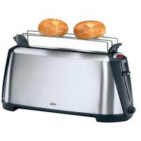 Braun/博朗 HT600 多士炉早餐烤面包机 吐司机家用全自动2片土司烤槽宽度可调节,小面包烤架