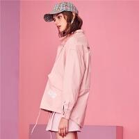 【3折到手价:120】【满399减80】puella外套装新款韩版宽松长袖拉夏贝尔短款棒球百搭外套女