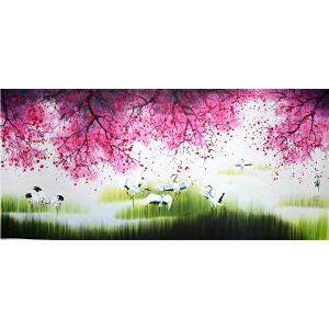 小蒙《花鸟1114》著名画家