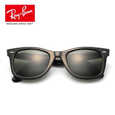 RayBan雷朋太阳眼镜男女款方形复古舒适绿色太阳镜0RB2140F墨镜 901每满100减50