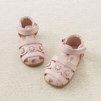 戴维贝拉夏季新款女童皮凉鞋 宝宝公主鞋DB6993