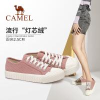 【下单立减120元】Camel/骆驼2019秋季新款 防滑个性复古百搭帆布鞋女