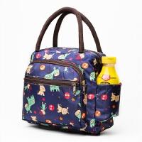 饭盒袋帆布手提便当包午餐袋手提袋韩版清新可爱小学生防水带饭包