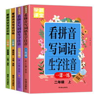 小学生二年级语文专项训练套装4册 看拼音写词语生字注音(上下册) 看图说话写话(基础篇+提高篇)