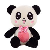 可爱黑白*公仔抱枕抱抱熊毛绒玩具送女生玩偶娃娃睡觉抱女孩