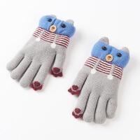 3-6岁幼儿园宝宝手套男冬保暖加厚可爱毛线儿童手套女冬天
