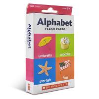 英文原版 Flash Cards: Alphabet 英语字母启蒙4-8岁阅读幼儿认知学习闪卡盒装 家庭亲子游戏玩具