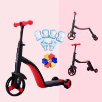 三合一儿童滑板车1-3-6岁小孩男女溜溜车滑滑车宝宝可坐 红色 收藏加购 送
