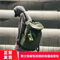 男士�p肩包百搭�r尚潮流背包�p便大容量旅行包大�W生��包��性��s