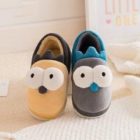 儿童棉拖鞋包跟男童女童秋冬季室内防滑保暖可爱小孩宝宝卡通托鞋