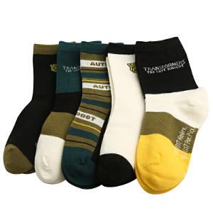 kk树新款变形金刚袜子儿童男保暖防滑袜秋冬款小学生袜子宝宝棉袜