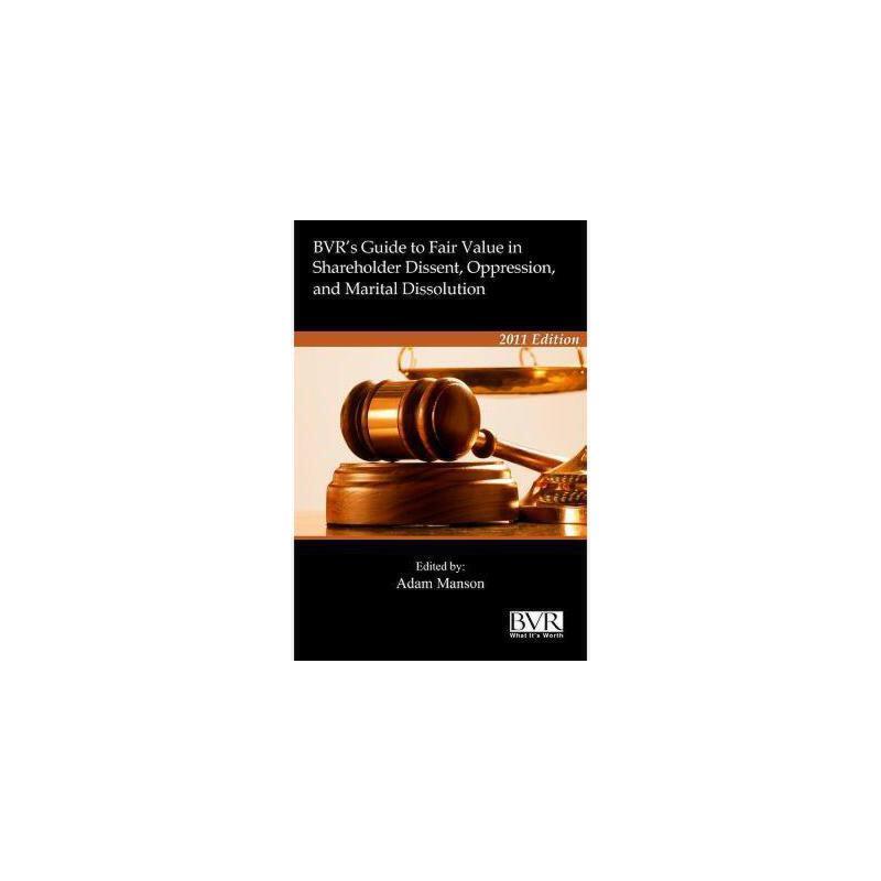 【预订】BVR's Guide to Fair Value in Shareholder Dissent 美国库房发货,通常付款后3-5周到货!