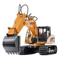 遥控挖掘机挖土机工程车儿童玩具男孩大号挖机充电动合金