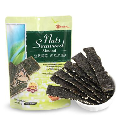 禾泱泱RIVSEA 坚果海苔巴旦木脆片宝宝休闲零食酥脆非油炸营养22g