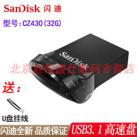 【送挂绳】闪迪 CZ430 32G 优盘 USB3.1高速 32GB 车载U盘 超薄时尚小巧