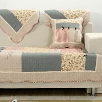 韩式全棉绗缝水洗拼布沙发垫田园防滑简约现代四季用沙发巾套
