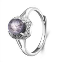 梦克拉s925银镶嵌发晶戒指 享爱