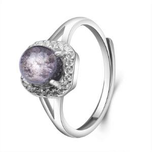 梦克拉s925银镶嵌发晶戒指 享爱 可礼品卡购买