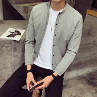 春季小码男装外套XS号S码160矮个子韩版修身夹克衫简约纯色外衣