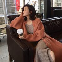 韩国chic秋季网红外套女针织中长款气质小香风羊绒开衫毛衣秋
