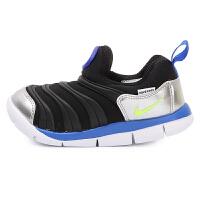 耐克(Nike)毛毛虫男女童运动鞋舒适耐磨防滑跑步鞋343938-012 黑色