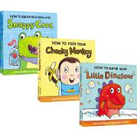 英文原版绘本 How to系列 4册纸板书 0 3 6岁 儿童生活自理 习惯养成指南