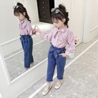 木木屋女童春装套装2021新款韩版儿童装可爱春夏季小女孩洋气休闲两件套