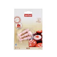 德国法克曼 家用3件装心型饼干模烘焙器具糕点印章手工压花模具5245681