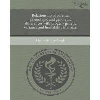 【预订】Relationship of Parental Phenotypic and Genotypic