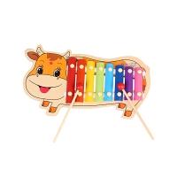 儿童敲琴玩具木制手敲琴男女宝宝1-3岁音乐早教玩具