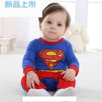 宝宝新生儿衣服春季满月百天周岁礼服男婴儿绅士连体衣哈衣