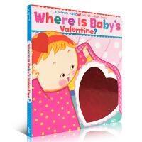 英文原版绘本纸板书 Where Is Baby's Valentine? 宝贝的情人在哪里? 儿童启蒙阅读2-5岁不怕