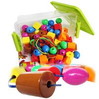 大号串珠玩具75件儿童串珠玩具穿线玩具婴儿早教类益智力玩具