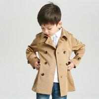 2女宝男童风衣春秋英伦1-3岁儿童外套中长款4男宝宝大衣5男宝潮衣