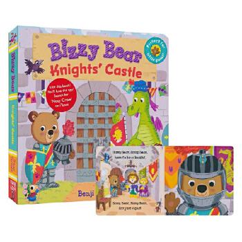 英文原版绘本 Bizzy Bear: Knights' Castle 忙碌的小熊骑士城堡 机关操作玩具纸板书 儿童启蒙入门益智趣味游戏开发动手力图画书 操作书