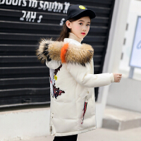冬季儿童羽绒服女童中长款2018新款加厚亲子装冬季外套韩版童装女大童秋冬新款