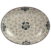 釉下彩陶瓷盘子创意盘子菜盘汤盘厨房餐具中国风田园瓷盘青花平盘
