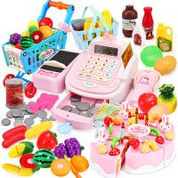可扫描男女孩收银台玩具儿童仿真超市收银机玩具过家家