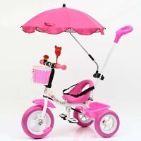 儿童三轮车脚踏车1-3-6岁2大号婴儿手推车宝宝轻便自行车童车 红色 豪华款红色