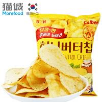 【920超品日满199减120】韩国进口 海太 蜂蜜黄油薯片60g土豆片薄脆片 膨化小吃零食品