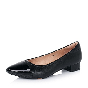 BATA/拔佳羊皮/漆牛皮女单鞋AT401CQ6