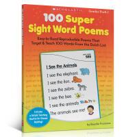 英文原版童书绘本 100 SUPER SIGHT WORD POEM PBK 5-7岁学习英语词字典工具辅助教科书